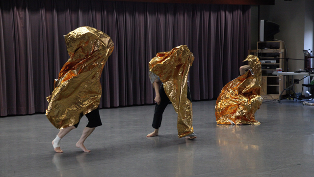 Further movement explorations with space blankets