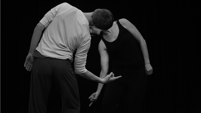 Niki Cousineau explores movement invention with performer Scott McPheeters