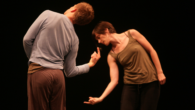 Cousineau and McPheeters share their movement explorations in an Informal Showing
