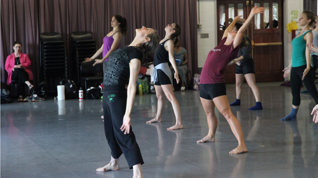 FSU BFA Dance students exploring center work with Peggy Baker