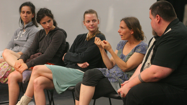 Shemy and her collaborators discuss the philosophical dimensions of the work after the informal showing