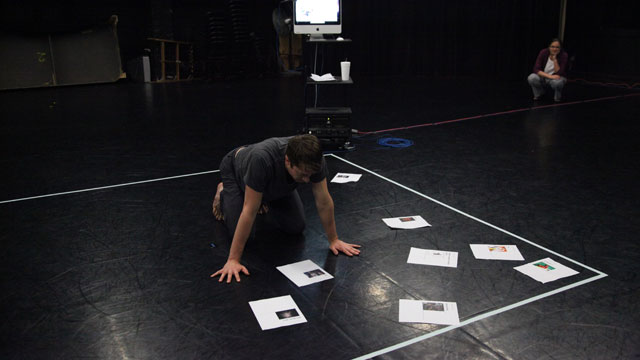 Performer Luke Miller analyzes material submitted to <i>The People to Come</i> website