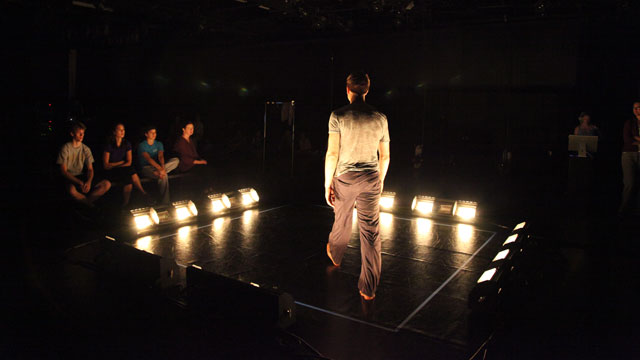 Miller performs in the Black Box Theater
