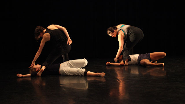 Johnston's collaborators perform a section of <i>BORDERLINE</i> at the Informal Showing