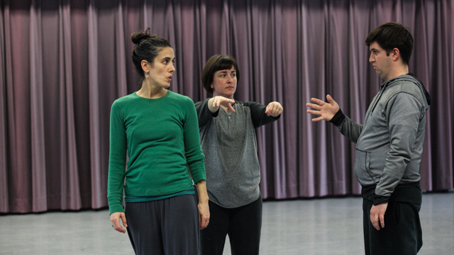 Chris Yon discusses movement with Angharad Davies and Taryn Griggs