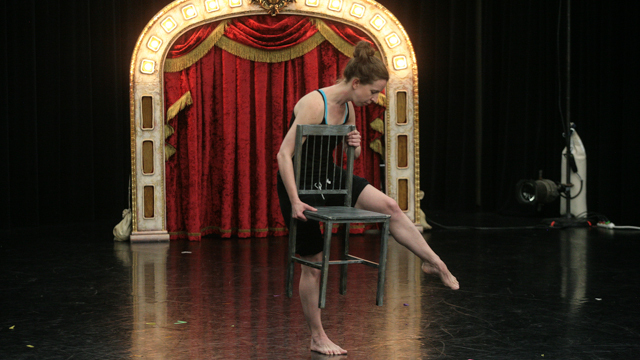 Anna Bass shares material during School of Dance Entrypoint