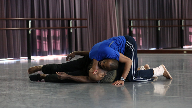 Jones and Green in rehearsal for <i>Hoo-Ha (for your eyes only)</i>