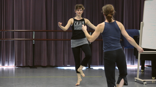 Kimberly Young and Pamela Vail explore traditional court dance movement.