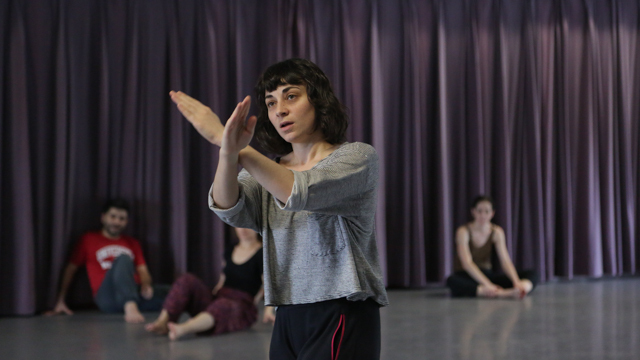 Beth Gill rehearses <i>New Work for the Desert</i>