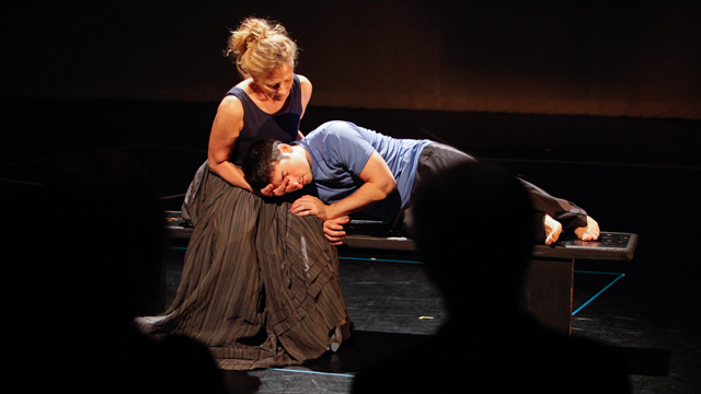 Tamara Pullman and George Hirsch in <i>Healing Wars</i> informal showing