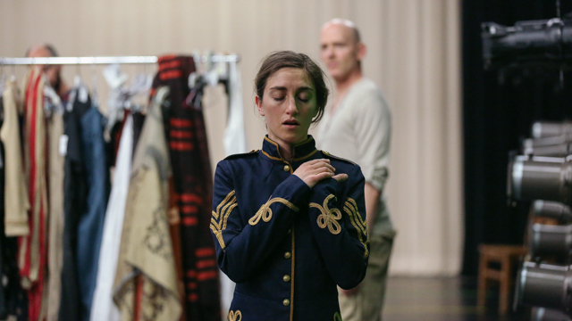 Alli Ross in <i>Healing Wars</i> rehearsal