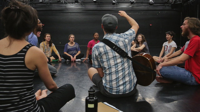 Everest leads FSU students during rehearsal for <i>SHORE</i>