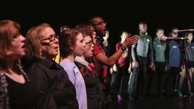 FSU students and Tallahassee Civic Chorale perform <i>SHORE</i>'s work-in-progress