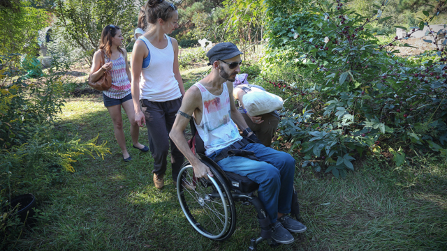 AXIS dancers visit Tallahassee permaculture site