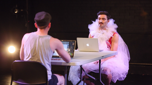 Ben Pryor and Sean Donovan rehearse <i>Age & Beauty Part 2</i>