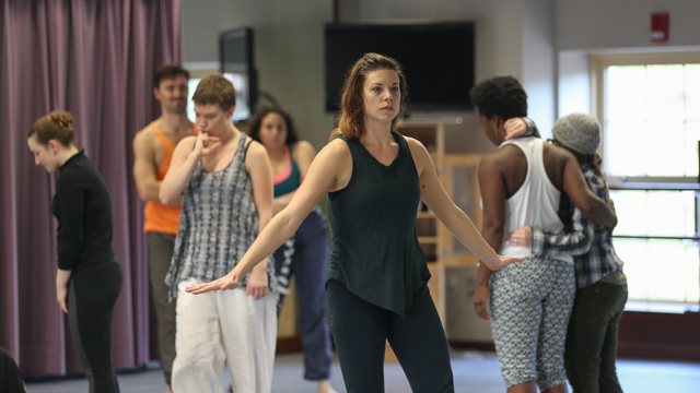 FSU student Erika Hand in the <i>Queer Choreographies</i> workshop