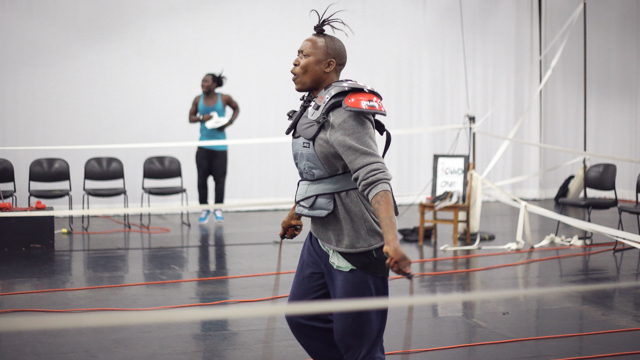 Nora Chipaumire rehearses <i>portrait of myself as my <strike>father</strike></i>