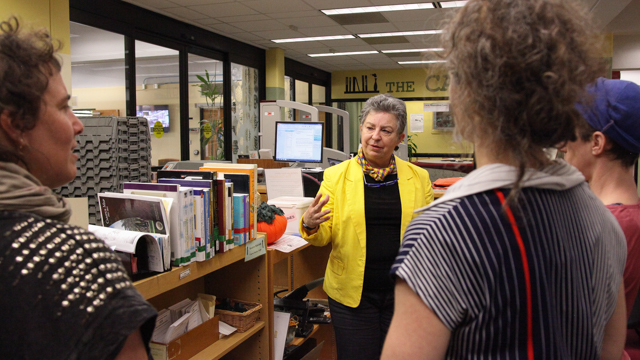 HIJACK meets with Goldstein Library Director Pam Doffek