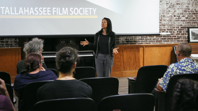 Yasuko Yokoshi discusses <i>Hangman Takuzo</i> film with Tallahassee audience