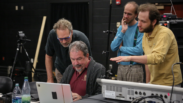 FSU Professor Russell Sandifer works with Scully, Kowalski and Loeser