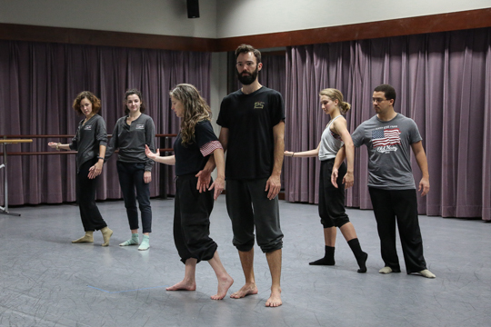School of Dance students work with Thorson