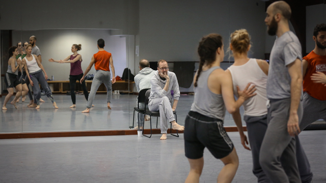 John Jasperse directs rehearsal of his project <i> Remains </i>