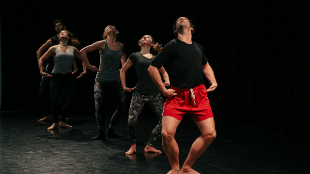 Marc Crousillat, Claire Westby, Heather Lang, Maggie Cloud, and Stuart Singer in rehearsal