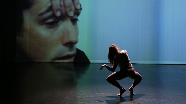 Claire Westby in rehearsal for <i> Remains </i>