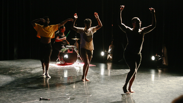 Adee Roberson, keyon gaskin, Tasha Ceyan and Brontez Purnell in work-in-progress showing of <i> Blank Map </i>