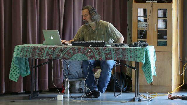 Collaborator Composer Jason Finkelman in rehearsal