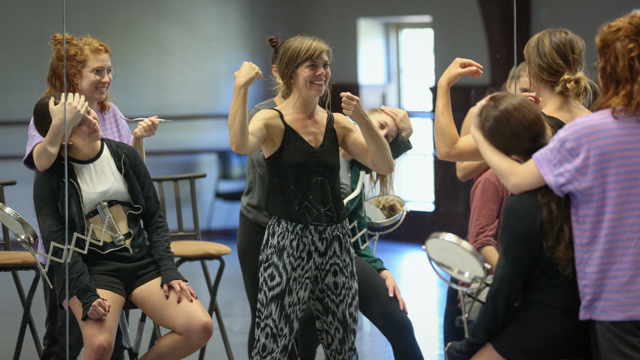 Lauren Beale leads School of Dance student in <i>The Rehearsal Artist<i> rehearsal
