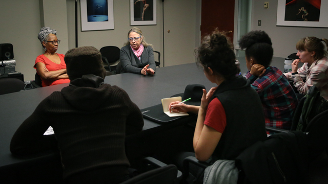 Melanie Joseph talks with Jawole Zollar's Theory of Performance and Directing class