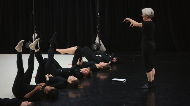 Carlson directs School of Dance students in <i>Elizabeth, the dance</i>
