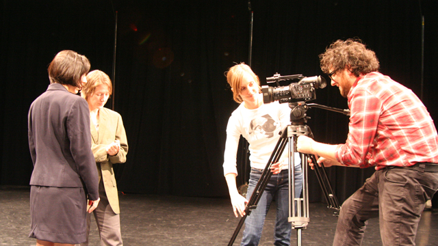 Filmmaker Michael Trigilio works with Das, Funsch and Faulkner.
