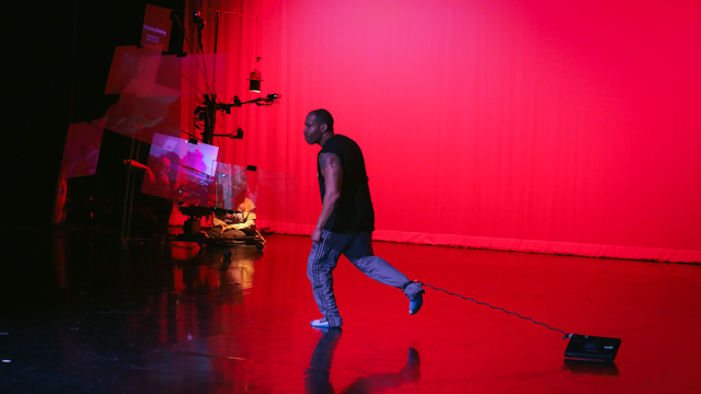 Ron Chunn performs during a work-in-progress showing of <i>Touch Update</i>