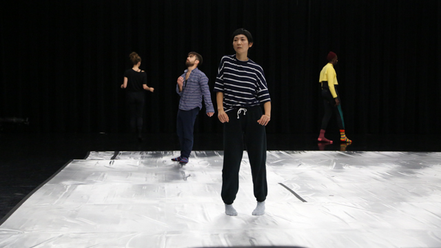 Yamazaki's performers rehearse in the Black Box