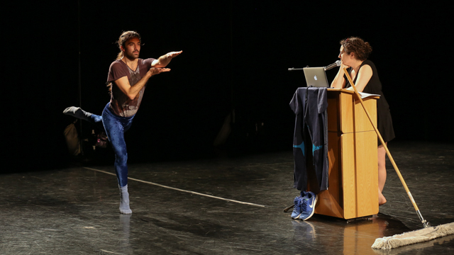 Silas Riener and Claudia La Rocco share work at FSU's School of Dance Forum