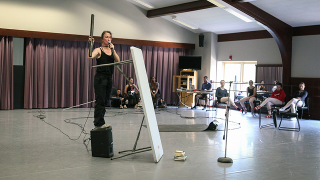 Jeanine Durning shares work with FSU's Summer Intensive Dance Workshop attendees