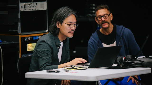 Composer James Lo and Neil Greenberg