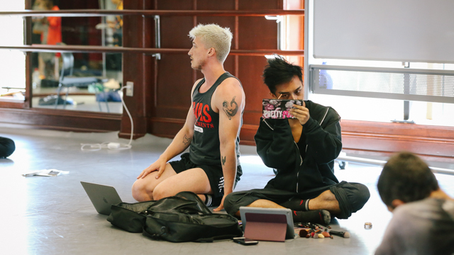 Participant pair Ashley Yergens and Eli Tamondong at the first sharing
