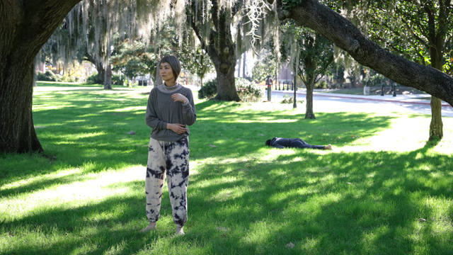 Mina Nishimura and Kota Yamazaki on Landis Green while in residence for <em>I'm a Ghost, the Other, or You</em>