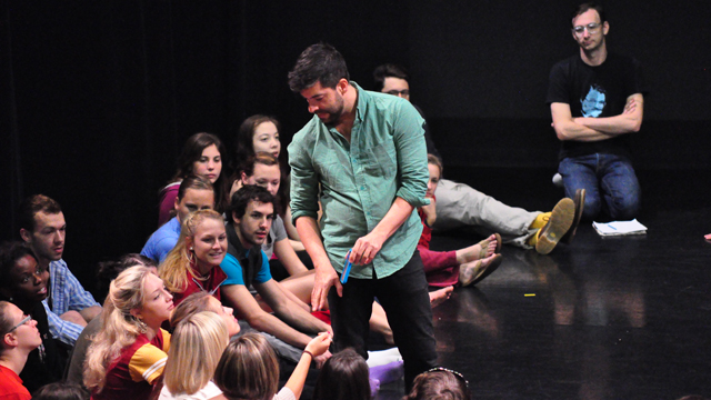 Gutierrez engages students in FSU School of Dance Forum.