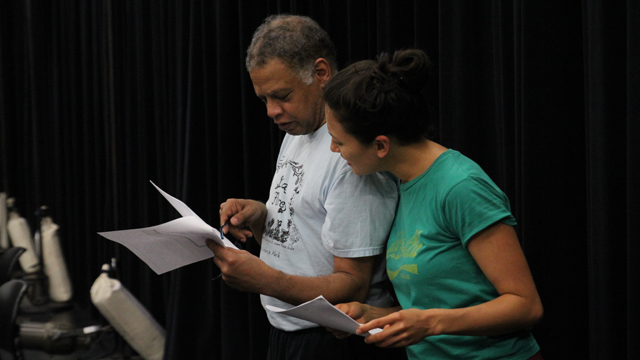 Ishmael Houston-Jones and Michelle Boulé in rehearsal.