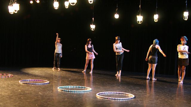 Hula Hoopers Laura Guinessey, Page Armstrong, Claire Vastola, Chelsea  Finch, Bri Regis