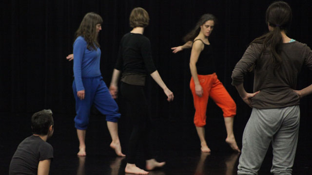 Thorson and collaborators create movement in rehearsal