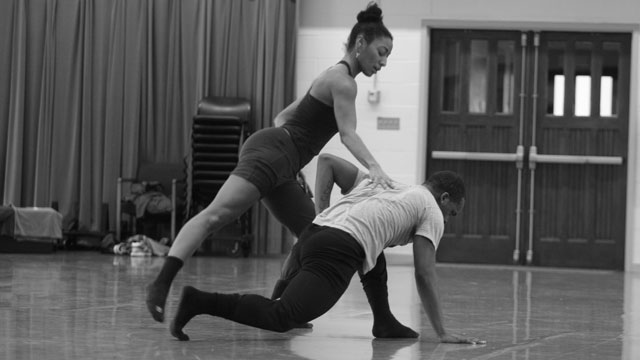 Abraham's collaborators share material during FSU School of Dance Forum