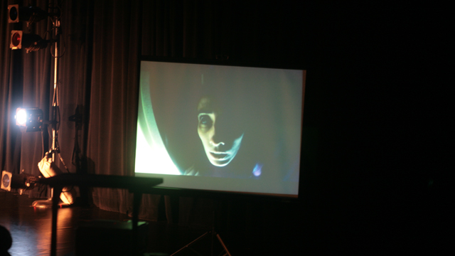 Kevin Obsatz explores the use of video projection inside the work