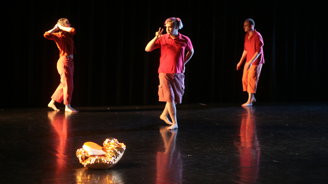 Mayer's collaborators perform in the <i>Soft Fences</i> Informal Showing