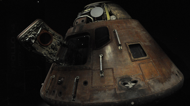 The Apollo 14 Command Module at the Kennedy Space Center